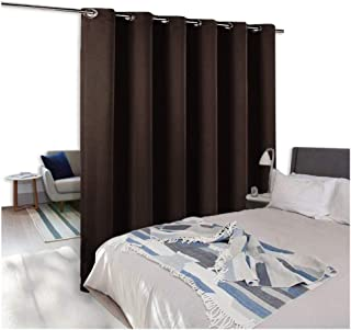 NICETOWN Room Divider Curtain Screen Partitions, Full Length Hospital Medical Clinic SPA Lab Cubicle Curtain Divider Privacy Screen, Patio Door Curtain (1 Panel,10ft Wide x 9ft Long,Brown)