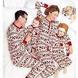 ABCSS Natale e Halloween Abbigliamento genitore-figlio,Abito genitore-figlio Stampato Pigiama da casa in Cotone a Due pezzi.