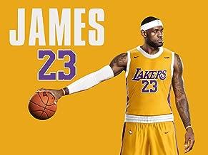777 Tri-Seven Entertainment Lebron James LA Lakers Poster Wall Art Print (24x18)