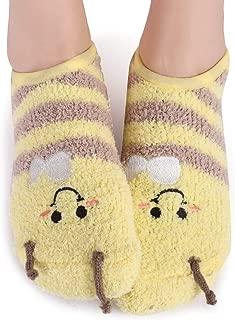bumble bee fuzzy socks
