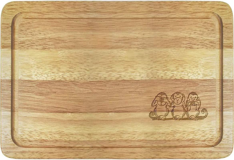 Azeeda Monkey Trio Wooden Chopping Board WB00016118