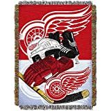 NHL Detroit Red Wings 'Homefield Ice Advantage' Woven Tapestry Throw Blanket, 48' x 60'