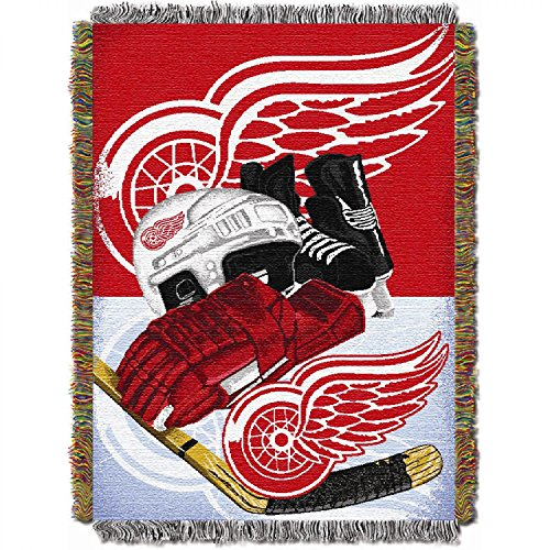 Detroit Red Wings NHL Woven Tapestry Throw Blanket (48x60 )