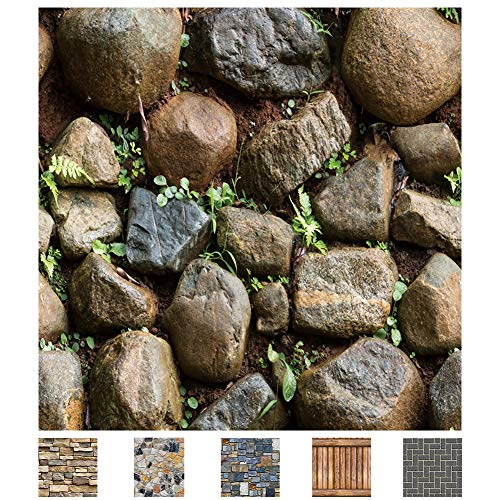Y-Step Steinmuster 3D-Tapete schöne edle Tapet, selbstklebend, ablösbar für Wohnzimmer, Schlafzimmer oder Küche, 0.45 * 10 m