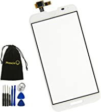 Mencia Touch Digitizer Screen Replacement for Lg Optimus G Pro E980 E985 F240 with Tools White Color (No Lcd)