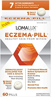 Eczema Pill, All Natural Skin Clearing Minerals - Steroid Free - Dermatologist Developed For Children & Adults, Natural Be...