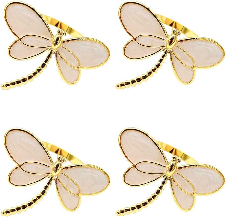 Lanebudd Dragonfly Napkin Ring Challenge the lowest price Rings Napk Popular standard Metal