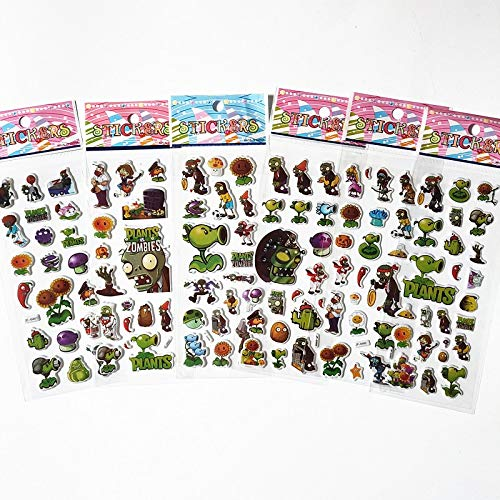 TUHAO Cartoon Game Plants Vs. Zombies Stickers for Children Toy Cute Baby Peach Painting 3D Bubble Sticker Laptop Car Skateboard