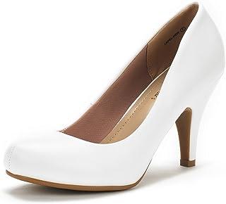 DREAM PAIRS ARPEL/Berry Women's Formal Evening Dance Rhinestones Classic Low Heel Pumps Shoes New