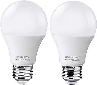 LED電球 口金直径26mm 100W形相当 電球色 12W 1280ルーメン 一般電球 広配光タイプ 密閉形器具対応 全方向タイプ 断熱材施工器具対応 省エネ セット (100形電球色2個入)