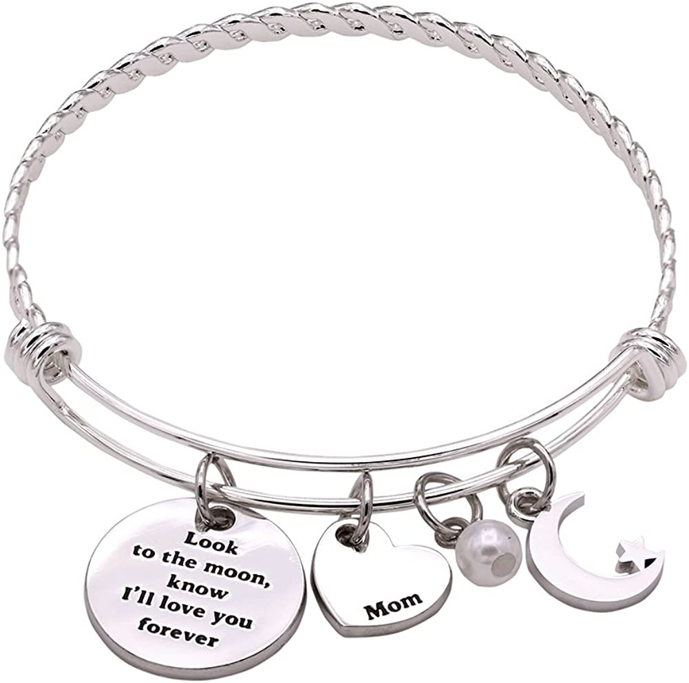 Melix Home Look The moom Know I'll Love You Forever Bangle from Daughter Son
