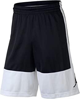 Air Jordan Mens Dri-Fit Rise Basketball Shorts Black/White