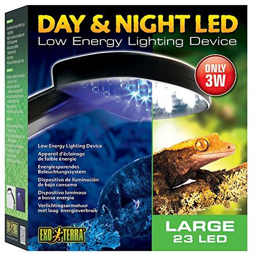 Exo Terra Tag & Nacht LED Beleuchtung, geringe Wärmeentwicklung. 22 x 24,5 x 8,5cm (BxHxT)