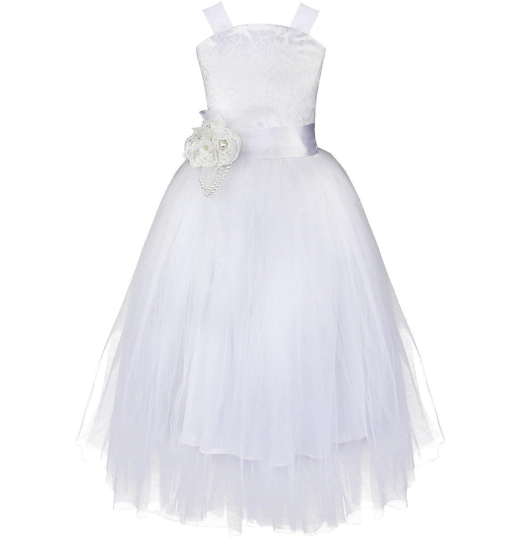 (アゴキー)Agoky 子供ドレス 女の子 ピアノ 発表会 パーディー 演奏会 フォーマル 入園式 結婚式 ワンピース ロングドレス チュチュスカート バックレースアップ風 プリンセスドレス