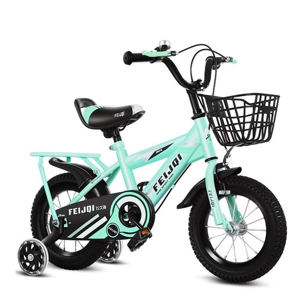 Safe La Nueva Bicicleta de la Bicicleta Cochecito de bebé niños y niñas de 4-6 años de Edad de los niños de Bici de 14 Pulgadas de 14 Pulgadas (Color : Green): Amazon.es: Hogar