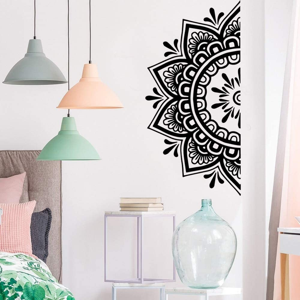 TELEGLO Media Mandala Etiqueta de La Pared para el Dormitorio Moderno Patr/ón de Dise/ño de Vinilo Arte Autoadhesivo Pegatinas de Pared Home Room Decor 112x56 cm