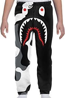 Boys Sweatpants Bape Blood Shark Joggers Sport Training Pants Trousers Cotton Sweatpants for Youth