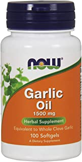 NOW FOODS Garlic Oil 1500MG, 100 Count