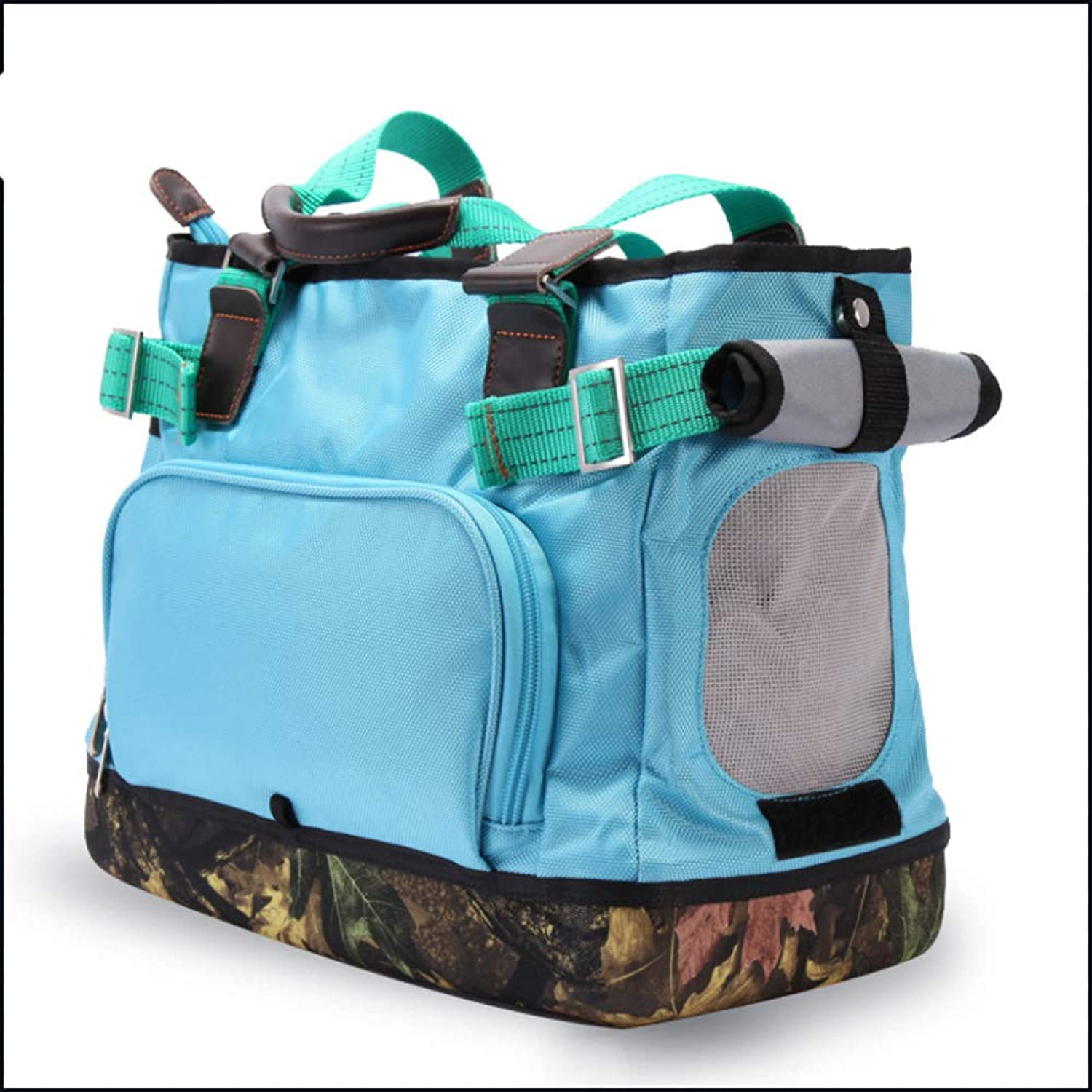 CTAO Portable Pet Travel Carrier Backpack For Cats Small Medium Dogs Pets Larger Space Capsule Breathable 36  20  30cm,blueedepth30cm