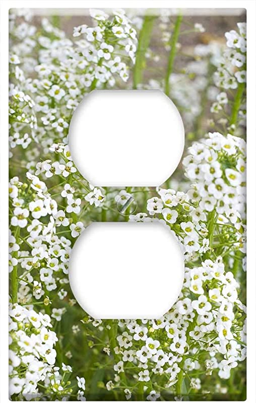 Switch Plate Outlet Cover Baby Breath Flowers White Breath Bouquet Floral