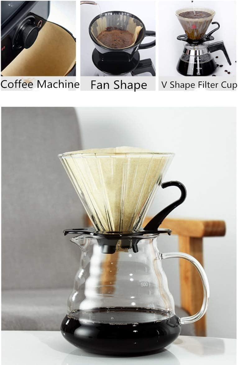 100Pcs Coffee Paper Filter Coffee Natural Unbleach Coffee Filt Drip 2-4 Cup