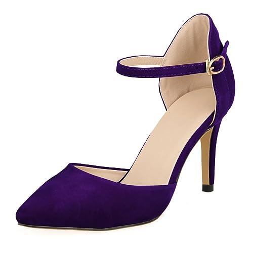31b1e192e1 Eastlion Women's Strap Stiletto Heel Pointed Toe Shoes Sandals High Heel  Pumps Court Shoes