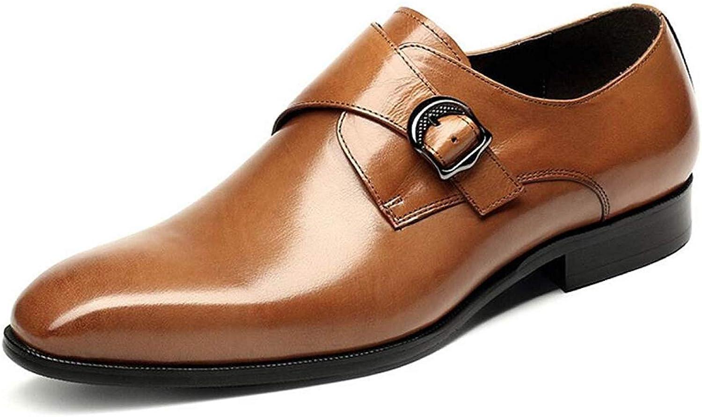 HhGold Herrenschuhe Business Lederschuhe Casual Dress Schuhe für für für Männer (Farbe : Gelb, Größe : 42) B07MSD63Z9  0901e0