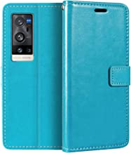 Vivo X60 Pro+ V2056A Wallet Case, Premium PU Leather Magnetic Flip Case Cover with Card Holder and Kickstand for Vivo X60 ...
