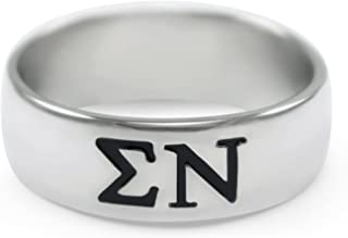 The Collegiate Standard Sigma Nu Sterling Silver Wide-Band Ring