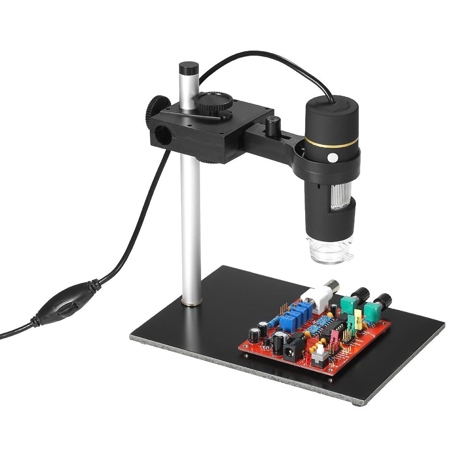 トークバラバラにする不良Kecheer 顕微鏡 OTG機能を備えた1000倍の倍率のデジタルデジタル顕微鏡 内視鏡スタンド付 内視鏡8-LEDライト拡大鏡拡大鏡