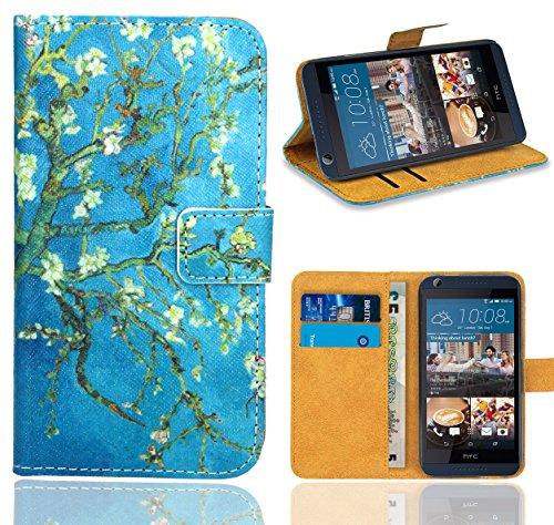 HTC Desire 626 626G Handy Tasche, FoneExpert® Wallet Hülle Flip Cover Hüllen Etui Ledertasche Lederhülle Premium Schutzhülle für HTC Desire 626 626G (Pattern 8)