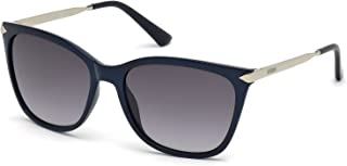 Guess Women's GU7483 GU7483 90B Cateye Sunglasses, Blue, 56 mm