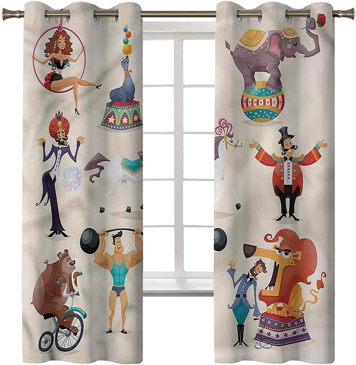 Circus Sound Proof Curtains Set of 2 Direct sale manufacturer 84 Excellent 42 Elegan x Inch Panels