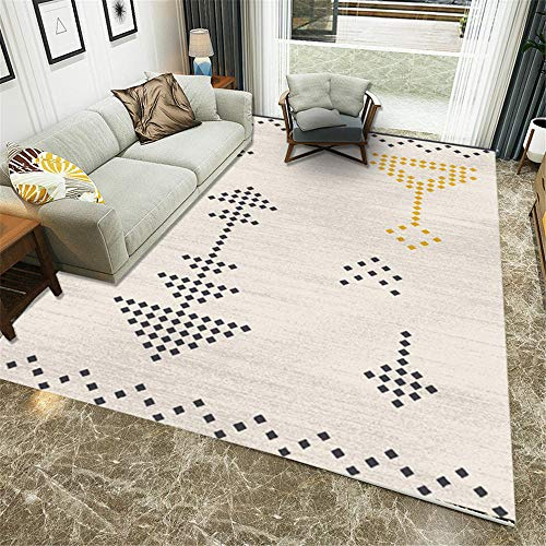 Traditional Ultra Soft grey Non Slip Rugs Rugs Bedroom Outside Rugs Waterproof Modern geometric living room carpet,kitchen,bedroom,sofa 80×160CM