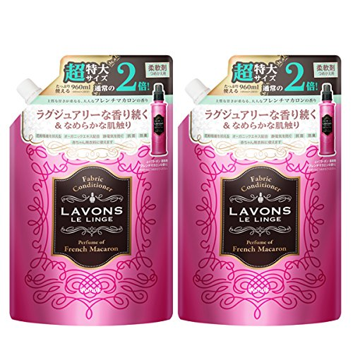 スマートマットライト ラボン ( Lavons )  柔軟剤詰替え フレンチマカロンの香り大容量 2個