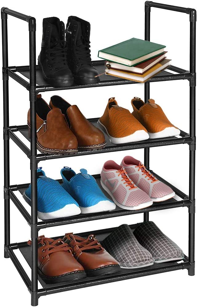4 Tier Shoe Rack Courier shipping free Holds 8-10 Small Storage S Max 44% OFF Pairs for