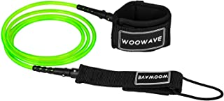 6//7//8//9 feet 1//4 wonitago Surf Leash Premium Stand Up Paddle Board Surfboard Leash for All Types of Surfboards Black 7mm Thick