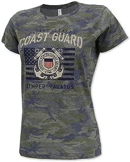 Vintage United States Coast Guard Ladies Camo Stencil T-Shirt