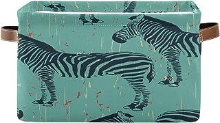 Tropicallife F17 Panier de rangement pliable en toile avec poignée pour décoration de placard, chambre d'enfant, bureau, t...
