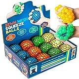 KELZ KIDZ Quality & Durable Mesh Squishy Balls with Exclusive Sewn Mesh! (Multi, 12 Pack)