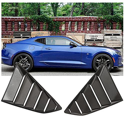 Racing Style Trasero Lateral Ventana de ventilación LOUTERS para 2016-2018 Camaro LS LT RS SS GTS Ventana de Camarera Cuarto Scoop LOUTERS ABS Ventana de ventilación