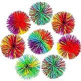 WENTS Bola de Antiestrés Bola Que Rebota Pom de Arcoiris Suave Bolas de Hilos de Inquietud Sensorial, Multicolor para eliminación de irritabilidad/descompresión/Terapia/Juguetes sensoriales