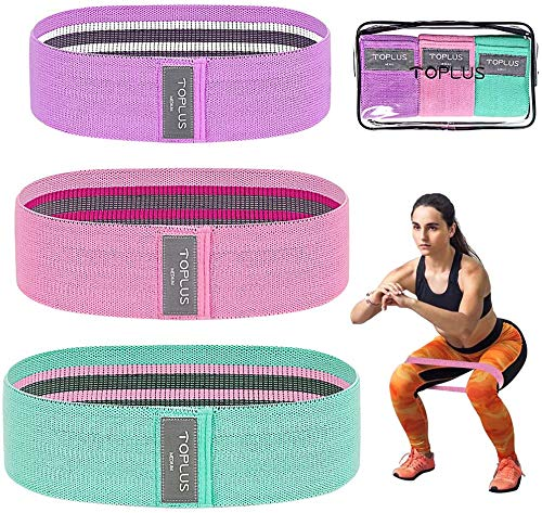 TOPLUS Booty Bands,Resistance Bands for Legs and Butt,Fitness Bands Set Hip Bands Women/Men Workout Bands Sports Resistance Loops Hip Thigh Glute Bands for Home Workout Anti Slip Elastic (Set 3)
