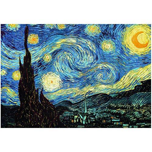 Rompecabezas De 1000 Piezas - La Noche Estrellada De Van Gogh Rompecabezas para Niños Regalo De Juguete De Presión Reducida para Adultos