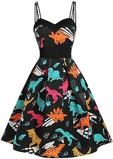 Spódnica Kopertowa Wielokolorowy Nadruk Wysokiej Talii Plisowana Sukienka Pin Up Vintage Letnie Sukienki Damskie
