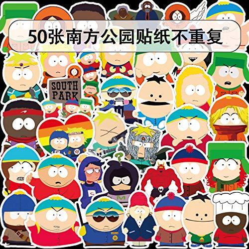 YCYY 50 Sheets/Pack Vsco South Park Anime American Drama Trunk Car Refrigerator Helmet Graffiti Stickers Waterproof