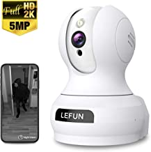 Pet Dog Camera, 5MP HD Lefun Wireless Camera, Baby Monitor WiFi IP Camera for Nanny Home Indoor Security Camera with Sound Motion Detect Deterrent Alarm Two-Way Audio Night Vision Pan/Tilt/Zoom Webcam