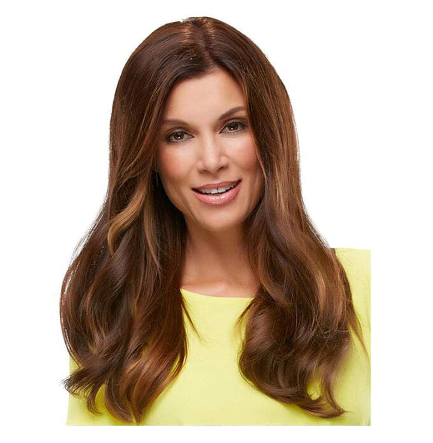 揺れる細胞瞑想的かつら長い巻き毛のような 女性のための耐熱性 - 日常的な摩耗やコスチュームウィッグのための自然な探している完全な頭髪の交換
