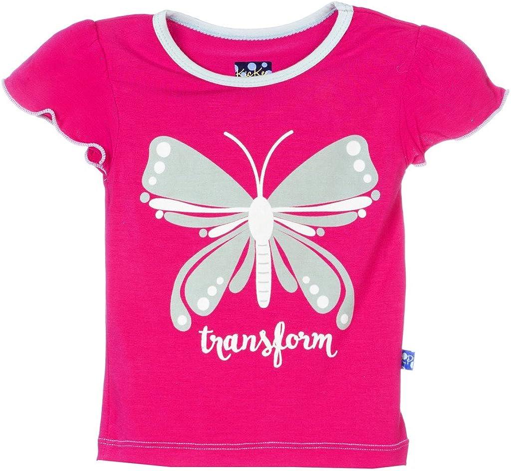 Kickee Ranking TOP18 Pants Little Girls Tee Puff Short unisex Sleeve