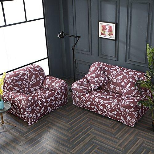 JiaQi Four Seasons Funda de sofá,Cubierta Universal del sofá,Elástico Antideslizante Protector de los Muebles para 1 2 3 4 Cojines sofá Guardapolvo-M Asientos de Amor